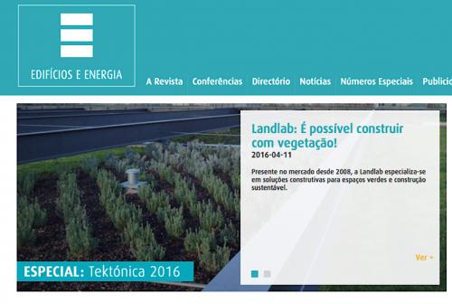 """Landlab na Revista """"Edifícios e Energia"""" - Edição especial: Tektónica 2016"""